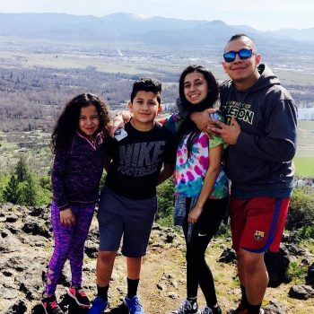Remy With Kids On Table Rock Hike